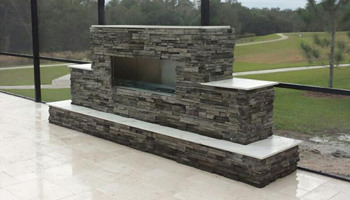 FLO MFG Outdoor Fireplace Kit